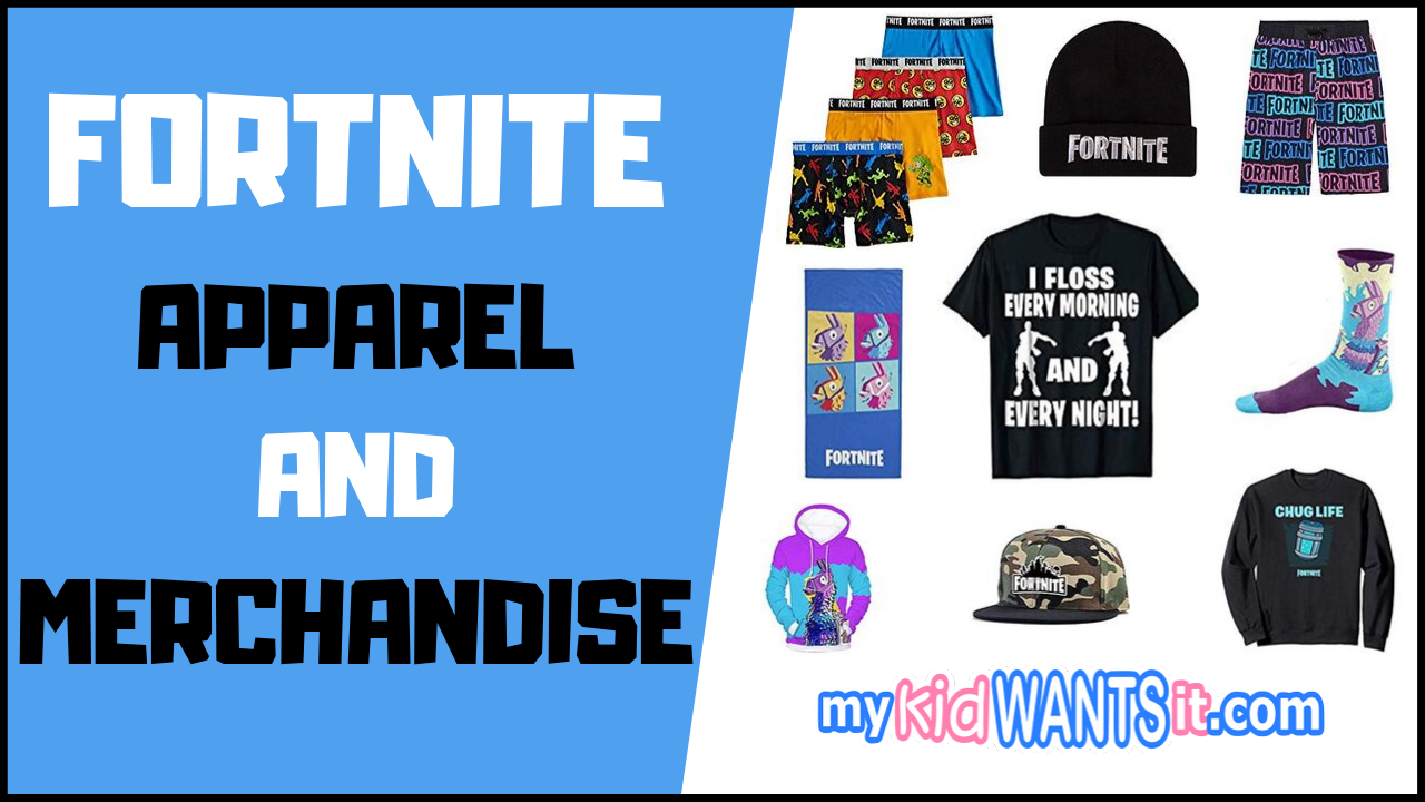 Fortnite clothing, apparel and merch