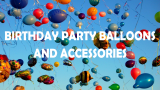 Birthday Party Balloons and Accessories – Latex, Spiral, LED, Large Numbers, Balloon Arch and Garland Kits, Ribbon, Helium Tanks and Air Inflators
