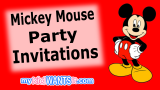 23+ Mickey Mouse Party Invitations – Birthday Guests Will Love These!
